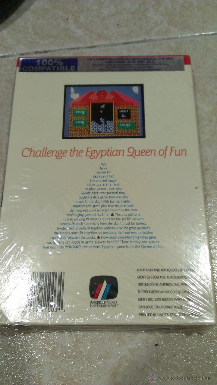 Videojuegos y Consolas: Juego PYRAMID para NES Nintendo precintado. American Video Entertainment AVE - Foto 2 - 102687851
