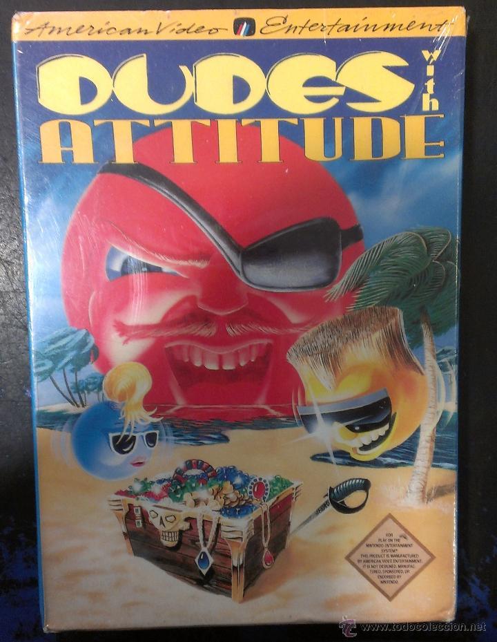 JUEGO NES NINTENDO DUDES WITH ATTITUDE PRECINTADO / AVE AMERICAN VIDEO ENTERTAINMENT (Juguetes - Videojuegos y Consolas - Nintendo - Nes)
