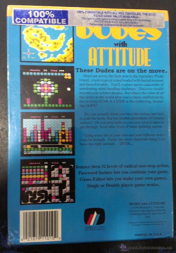 Videojuegos y Consolas: Juego NES Nintendo Dudes With Attitude Precintado / AVE American Video Entertainment - Foto 2 - 102687815