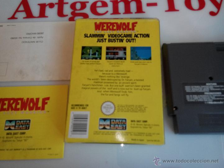 JUEGO PARA LA NINTENDO NES WEREWOLF (Juguetes - Videojuegos y Consolas - Nintendo - Nes)
