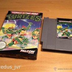 Videojuegos y Consolas: TURTLES TORTUGAS NINJA JUEGO PARA NINTENDO NES PAL CON CAJA EN BUEN ESTADO. Lote 45573547