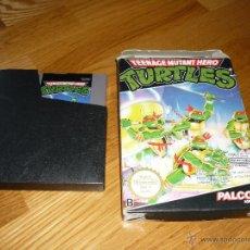 Videojuegos y Consolas: TURTLES TORTUGAS NINJA JUEGO PARA NINTENDO NES PAL CON CAJA EN BUEN ESTADO. Lote 45625918