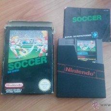 Videojuegos y Consolas: JUEGO NINTENDO NES SOCCER COMPLETO. Lote 47411926
