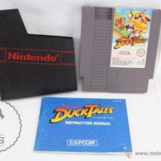 Videojuegos y Consolas: JUEGO DE VIDEOCONSOLA PARA NINTENDO / NES - DUCK TALES - MANUAL Y FUNDA - ESPAÑA. Lote 51595580