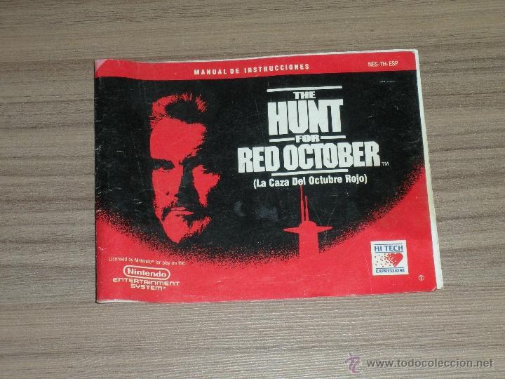 THE HUNT FOR RED OCTOBER CAZA OCTUBRE ROJO MANUAL DE INSTRUCCIONES DEL JUEGO NINTENDO NES PAL ESPAÑA (Juguetes - Videojuegos y Consolas - Nintendo - Nes)