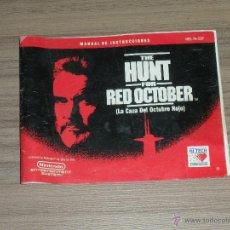 Videojuegos y Consolas: THE HUNT FOR RED OCTOBER CAZA OCTUBRE ROJO MANUAL DE INSTRUCCIONES DEL JUEGO NINTENDO NES PAL ESPAÑA. Lote 54222609