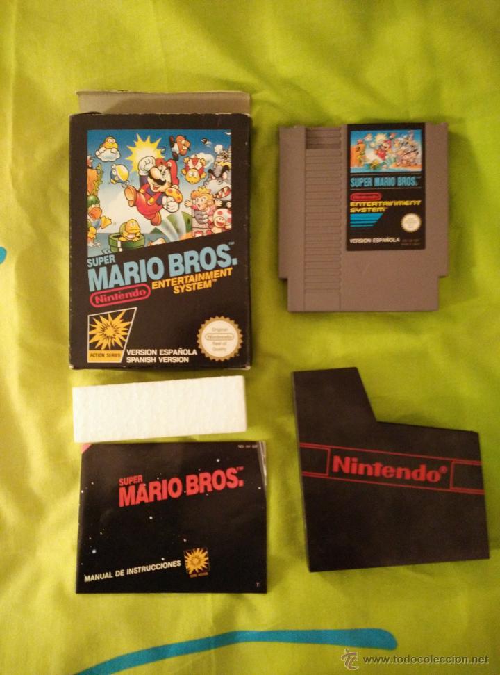 JUEGO NINTENDO NES - SUPER MARIO BROS - COMPLETO (Juguetes - Videojuegos y Consolas - Nintendo - Nes)
