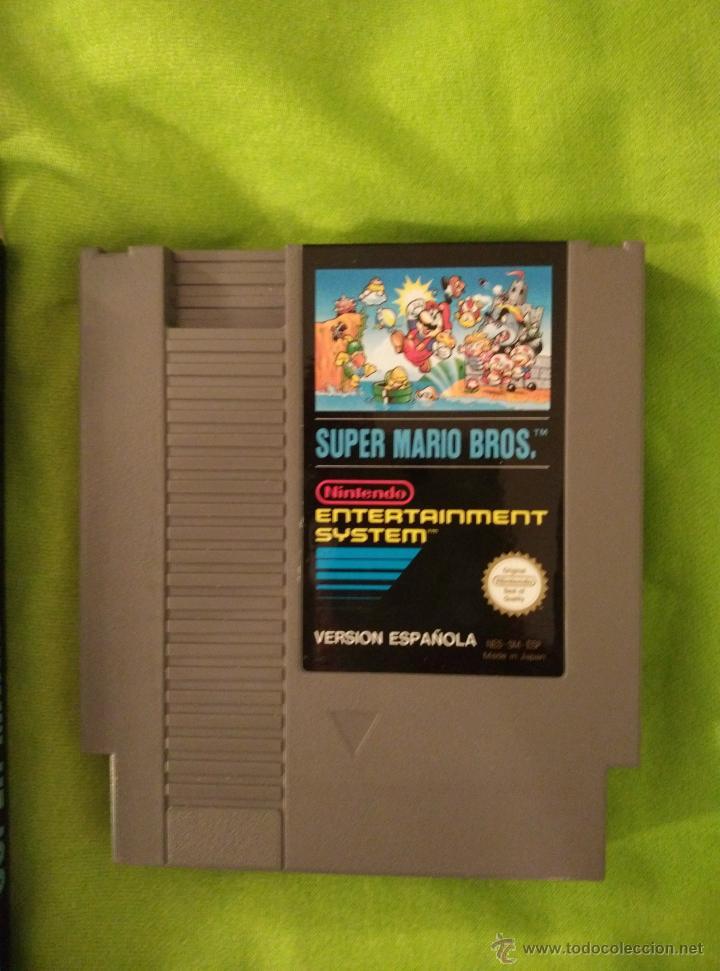 Videojuegos y Consolas: JUEGO NINTENDO NES - SUPER MARIO BROS - COMPLETO - Foto 2 - 110658000