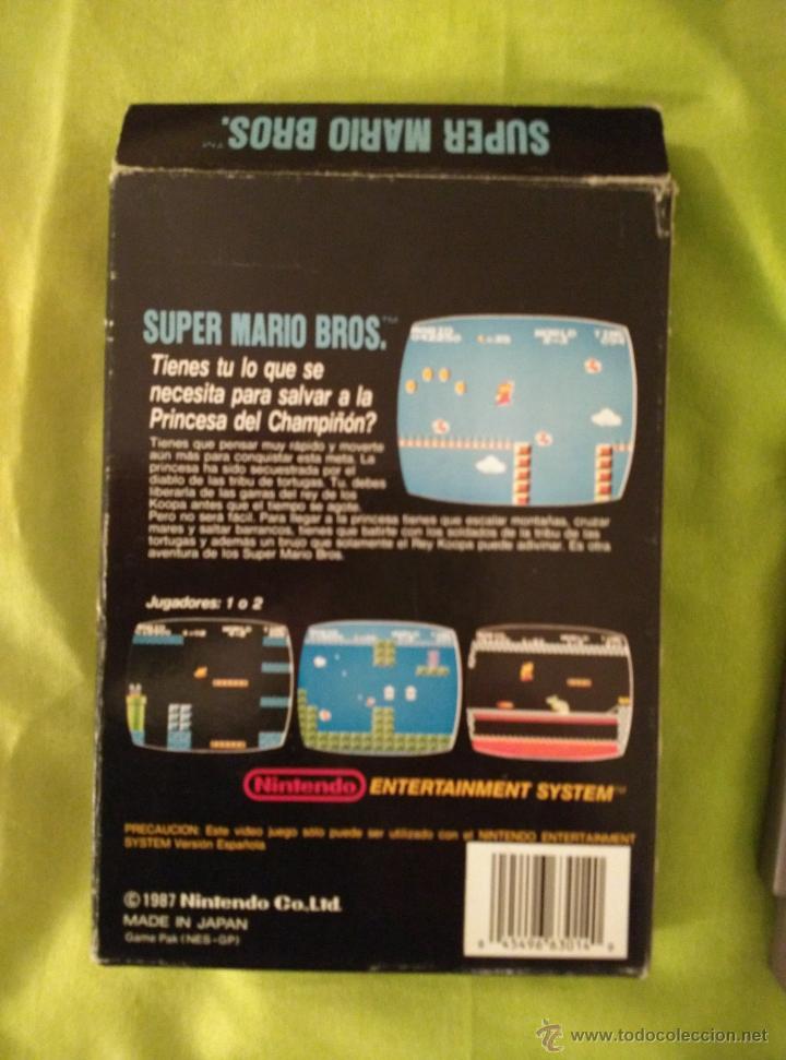 Videojuegos y Consolas: JUEGO NINTENDO NES - SUPER MARIO BROS - COMPLETO - Foto 3 - 110658000