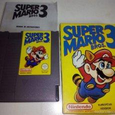 Videojuegos y Consolas: JUEGO SÚPER MARIO BROS 3 NINTENDO. Lote 56290426