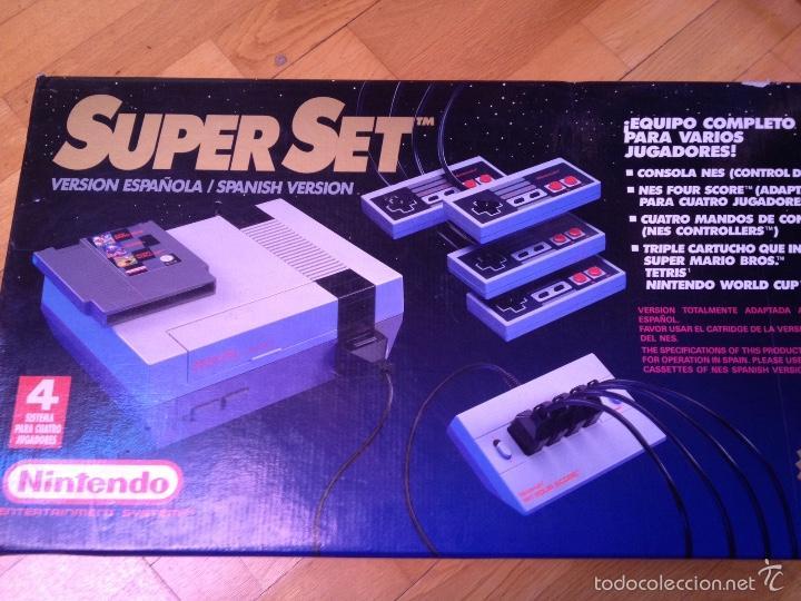 NINTENDO SUPERSET 4 JUGADORES. (Juguetes - Videojuegos y Consolas - Nintendo - Nes)