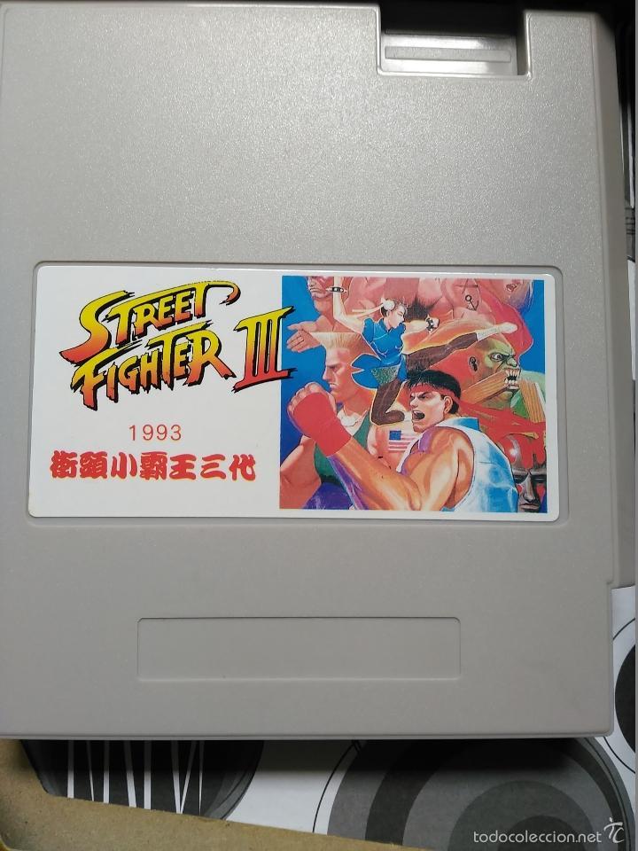 Videojuegos y Consolas: JUEGO CLONE NES NINTENDO STREET FIGHTER III NUEVO EN CAJA A ESTRENAR INSTRUCCIONES NASA - Foto 2 - 57124918