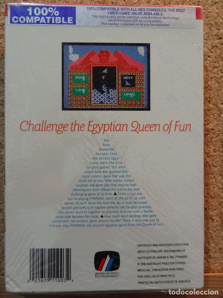 Videojuegos y Consolas: Juego PYRAMID para NES Nintendo precintado. American Video Entertainment AVE - Foto 3 - 102687851