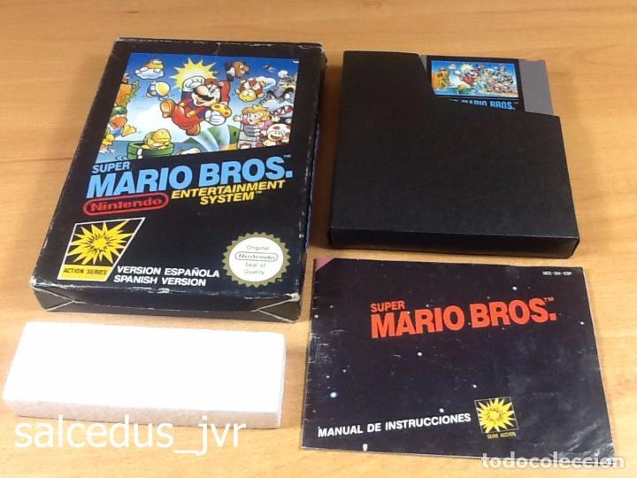 SUPER MARIO BROS 1 JUEGO PARA NINTENDO NES VERSIÓN PAL ESP ESPAÑA COMPLETO EN BUEN ESTADO (Juguetes - Videojuegos y Consolas - Nintendo - Nes)