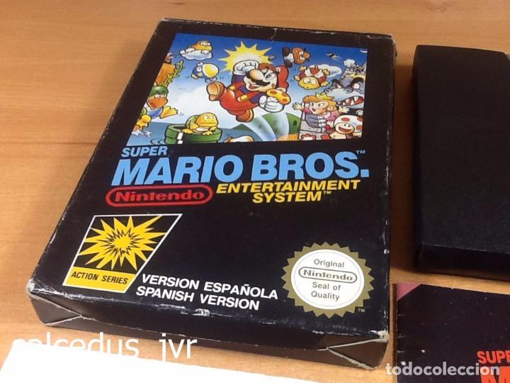 Videojuegos y Consolas: Super Mario Bros 1 juego para Nintendo NES Versión PAL ESP España Completo en Buen Estado - Foto 2 - 65906090
