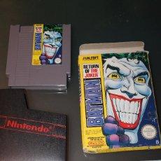 Videojuegos y Consolas: BATMAN RETURN OF THE JOKER PARA NINTENDO NES SUN SOFT CON CAJA ORIGINAL. Lote 71222677