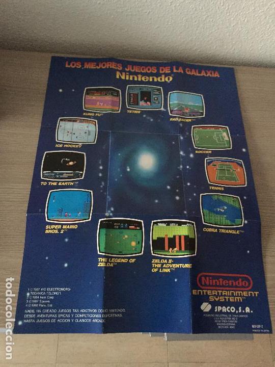 Poster Desplegable Catalogo De Juegos Nintendo Comprar Videojuegos