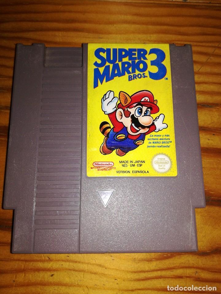 SUPER MARIO BROS 3, NINTENDO VERSION.ESPAÑOLA. (Juguetes - Videojuegos y Consolas - Nintendo - Nes)