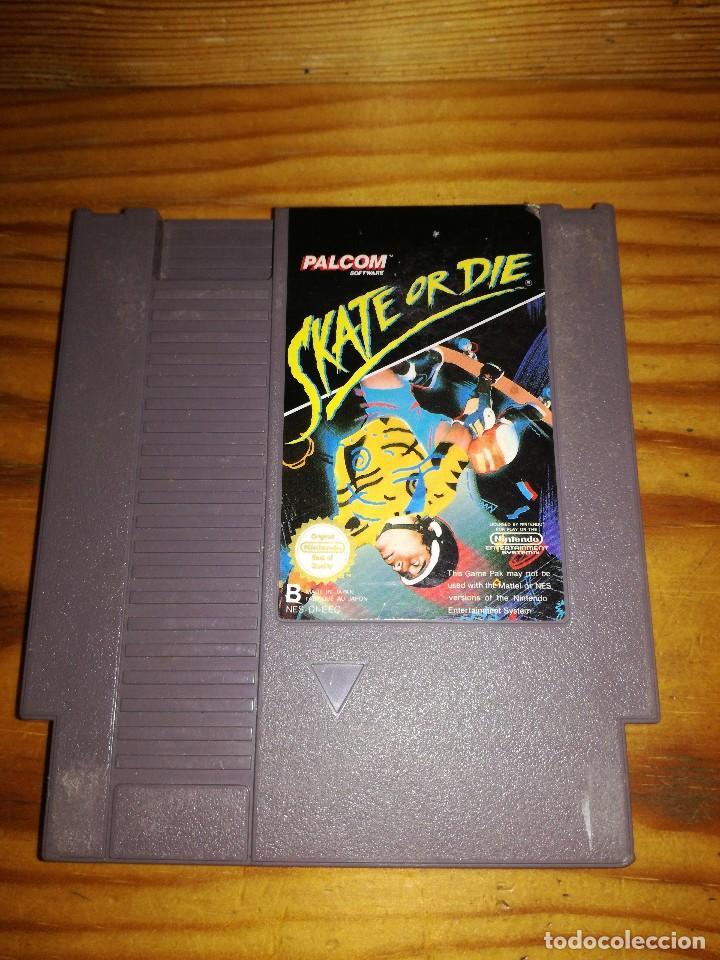 SKATE OR DIE, NINTENDO NES-DI-EEC, DIFICILISIMO. (Juguetes - Videojuegos y Consolas - Nintendo - Nes)