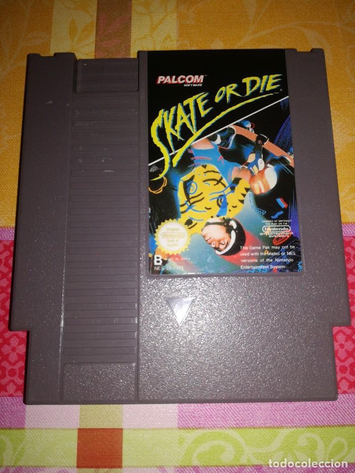SKATE OR DIE, NINTENDO NES-DI-FRG, DIFICILISIMO. (Juguetes - Videojuegos y Consolas - Nintendo - Nes)