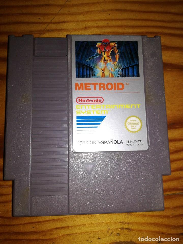 METROID, NES VERSION ESPAÑOLA,JUEGAZO. (Juguetes - Videojuegos y Consolas - Nintendo - Nes)