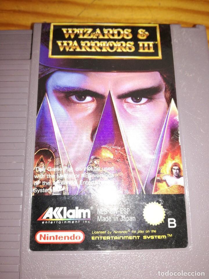 Videojuegos y Consolas: WIZARDS & WARRIORS 3, NES PAL ESP. - Foto 3 - 76498599