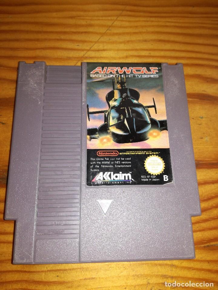 AIRWOLF, NES PAL ESP. (Juguetes - Videojuegos y Consolas - Nintendo - Nes)