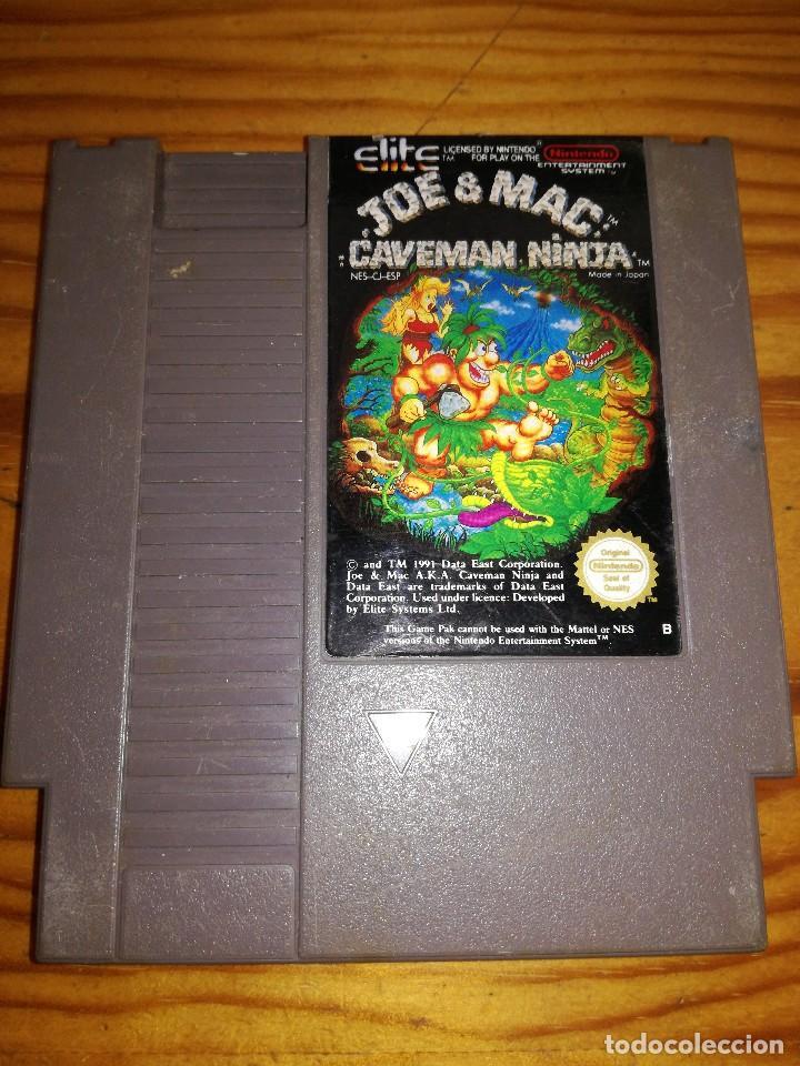 JOE & MAC: CAVEMAN NINJA, NES PAL.ESP. (Juguetes - Videojuegos y Consolas - Nintendo - Nes)