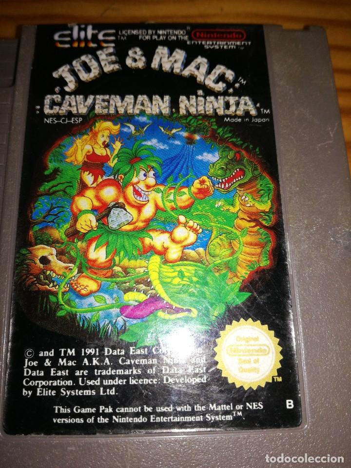 Videojuegos y Consolas: JOE & MAC: CAVEMAN NINJA, NES PAL.ESP. - Foto 3 - 76506619