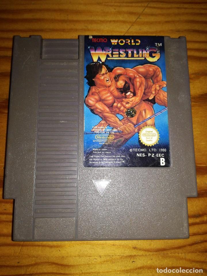 WORLD WRESTLING, NES PALB. (Juguetes - Videojuegos y Consolas - Nintendo - Nes)