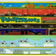 Videojogos e Consolas: MAPA THE FLINTSTONES(LOS PICAPIEDRAS) NINTENDO NES DE REVISTA HOBBY CONSOLAS MAP003. Lote 78603049