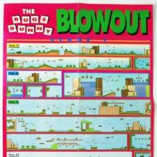 Videojuegos y Consolas: MAPA THE BUGS BUNNY BLOWOUT NINTENDO NES DE REVISTA HOBBY CONSOLAS MAP002. Lote 78604565