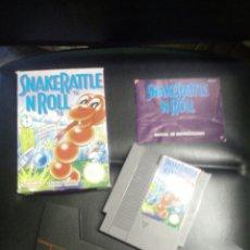 Videojuegos y Consolas: JUEGO SNAKE RATTLE N ROLL PARA NINTENDO NES. Lote 80942708
