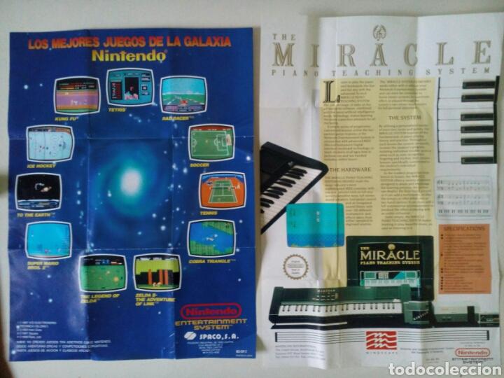 PUBLICIDAD JUEGOS NINTENDO NES. 2 CARTELES: LOS MEJORES JUEGOS DE LA GALAXIA Y MIRACLE PIANO (Juguetes - Videojuegos y Consolas - Nintendo - Nes)