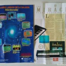 Videojuegos y Consolas: PUBLICIDAD JUEGOS NINTENDO NES. 2 CARTELES: LOS MEJORES JUEGOS DE LA GALAXIA Y MIRACLE PIANO. Lote 81272228