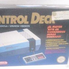 Videojuegos y Consolas: CONSOLA NINTENDO NES CONTROL DECK PAL +ISOLATED WARRIOR +CORCHOS+MANDO+CABLES. Lote 82937736