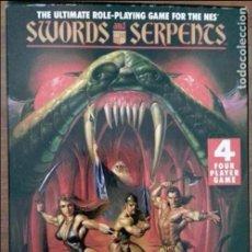 Videojuegos y Consolas: SWORD SERPENTS PAL NINTENDO NES. Lote 83378332
