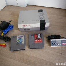 Videojuegos y Consolas: CONSOLA NINTENDO NES 8 BITS + JUEGOS VERSION PAL. Lote 83991904