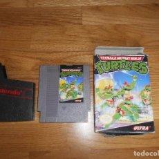 Videojuegos y Consolas: JUEGO NINTENDO NES - TURTLES (TORTUGAS NINJA) CON CAJA. Lote 86346940