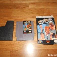 Videojuegos y Consolas: JUEGO PARA NINTENDO NES WRESTLE MANIA CHALLENGE EN BUEN ESTADO FUNCIONANDO. Lote 86347188