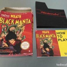 Videojuegos y Consolas: WRATH OF THE BLACK MANTA NINTENDO NES CAJA E INSTRUCCIONES.. Lote 87673324