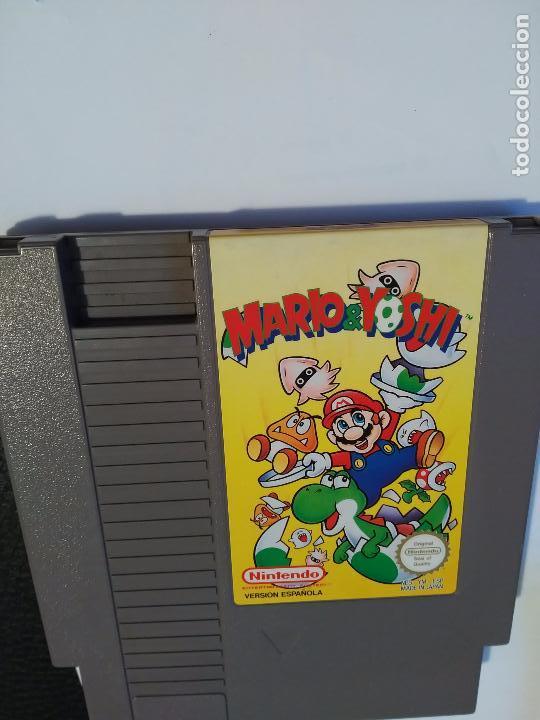 Videojuegos y Consolas: Mario & Yoshi juegoMario & Yoshi Juego videojuego cartucho para la Nintendo NES PAL Versión Española - Foto 2 - 88362224