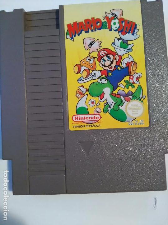 Videojuegos y Consolas: Mario & Yoshi juegoMario & Yoshi Juego videojuego cartucho para la Nintendo NES PAL Versión Española - Foto 5 - 88362224