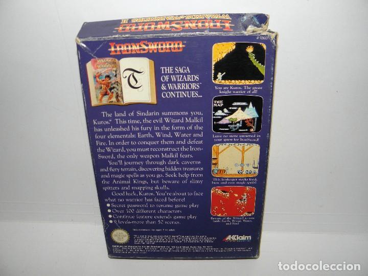 Videojuegos y Consolas: IRON SWORD - WIZARDS & WARRIORS II - NINTENDO NES - PAL ESP - Foto 2 - 91169220