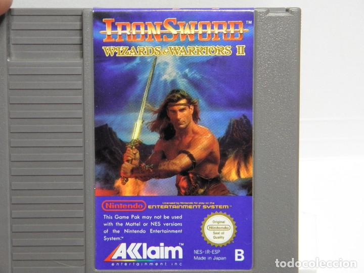 Videojuegos y Consolas: IRON SWORD - WIZARDS & WARRIORS II - NINTENDO NES - PAL ESP - Foto 6 - 91169220