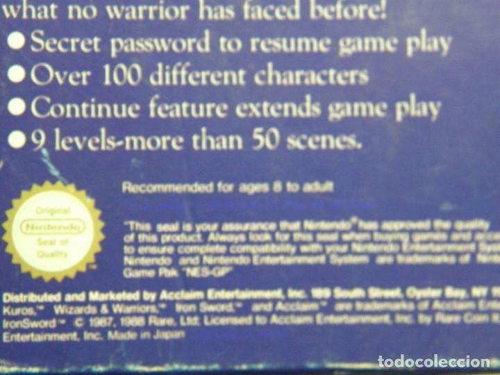 Videojuegos y Consolas: IRON SWORD - WIZARDS & WARRIORS II - NINTENDO NES - PAL ESP - Foto 7 - 91169220