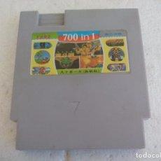 Videojuegos y Consolas: 700 IN 1, CARTUCHO CON MULTIJUEGOS PARA CONSOLAS CLÓNICAS TIPO NINTENDO NES. SIN TESTAR. Lote 91379165
