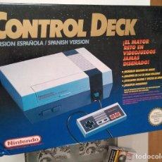 Videojuegos y Consolas: CONSOLA NES NINTENDO 1992 EN CAJA COMPLETA CON DOS MANDOS INSTRUCCIONES. Lote 95350647
