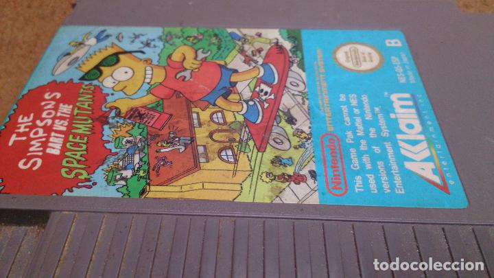 Videojuegos y Consolas: Juego Nintendo Nes The Simpsons Bart VS The Space Mutants 1985 - Foto 2 - 95588591