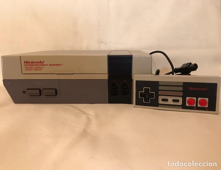 VIDEOCONSOLA NINTENDO NES 8 BITS VERSIÓN ESPAÑOLA - FUNCIONANDO, PROBADA + MANDO ORIGINAL (Juguetes - Videojuegos y Consolas - Nintendo - Nes)